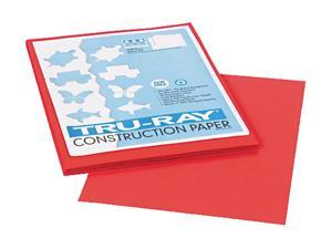 Pacon 103030 Tru-Ray Construction Paper, 76 lbs., 9 x 12, Red, 50 Sheets/Pack