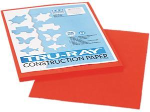 Pacon 103002 Tru-Ray Construction Paper, 76 lbs., 9 x 12, Orange, 50 Sheets/Pack