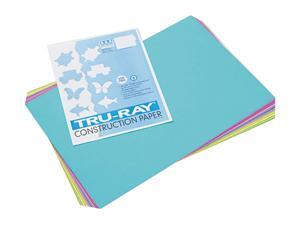 Pacon 102941 Tru-Ray Construction Paper, 76 lbs., 12 x 18, Bright Assortment, 50 Sheets/Pack