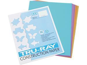 Pacon 102940 Tru-Ray Construction Paper, 76 lbs., 9 x 12, Assorted, 50 Sheets/Pack