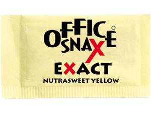 Office Snax 00062 Nutrasweet Yellow Sweetener, 2000 Packets/Carton