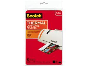 TP5900-20 Scotch Photo size thermal laminating pouches, 5 mil, 6 x 4, 20/pack