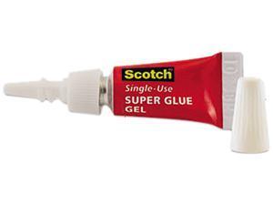 Scotch Scotch Single Use Super Glue, 1/2 Gram Tube, No-Run Gel, 4/PK