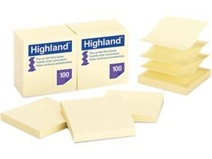 Post-it 6549-PUY Pop Up Memo Pad, 3 x 3, Yellow, 100 Sheets