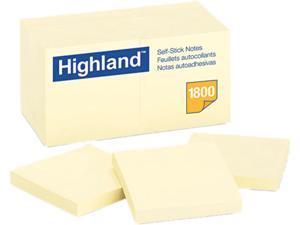Post-it                                  Memo Pad, 3 x 3, Yellow, 18 100-Sheet Pads/Pack