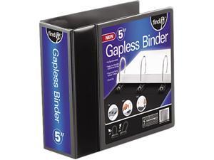 """find It FT07075 Gapless Loop Ring View Binder, 11 x 8-1/2, 5"""" Capacity, Black"""