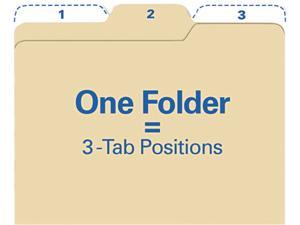 find It FT07046 Findit File Folders, 1/3 Cut, 11 Point Stock, Letter, Manila, 80/Pack