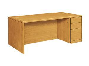 HON 10787RCC 10700 Single Pedestal Desk, Full-Right Pedestal, 72w x 36d x 29-1/2h, Harvest
