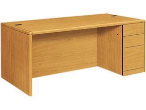 10700 Single Pedestal Desk, Full-Right Pedestal, 72w x 36d x 29-1/2h, Harvest