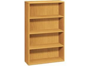 HON 10754C 10700 Series Bookcase, 4 Shelves, 36w x 13-1/8d x 57-1/8h, Harvest