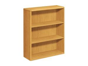 HON 10753C 10700 Series Bookcase, 3 Shelves, 36w x 13-1/8d x 43-3/8h, Harvest