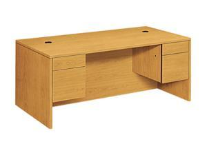 10500 Series 3/4-Height Double Pedestal Desk, 72w x 36d x 29-1/2h, Harvest