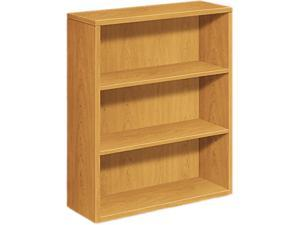 HON 105533CC 10500 Series Bookcase, 3 Shelves, 36w x 13-1/8d x 43-3/8h, Harvest