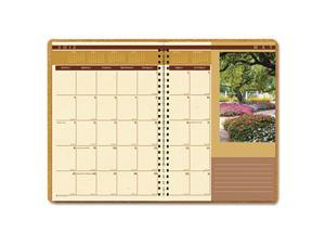 House of Doolittle Landscapes Full-Color Monthly Planner, Ruled, 8-1/2 x 11, Brown
