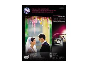 Hewlett-Packard Premium Plus Photo Paper, 80 lbs., Glossy, 8-1/2 x 11, 25 Sheets/Pack