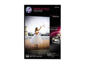 Hewlett-Packard Premium Plus Photo Paper, 80 lbs., Glossy, 4 x 6, 100 Sheets/Pack