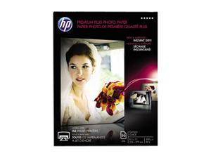 Hewlett-Packard Premium Plus Photo Paper, 80 lbs., Glossy, 8-1/2 x 11, 50 Sheets/Pack