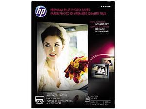 Hewlett-Packard CR664A Premium Plus Photo Paper, 80 lbs., Glossy, 8-1/2 x 11, 50 Sheets/Pack