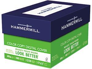 Hammermill 12255-6 Color Copy Digital Cover Stock, 60 lbs., 11 x 17, White, 250 Sheets