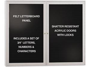 Ghent PA23648B-BK Enclosed Letterboard, 48 x 36