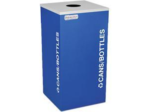 Ex-Cell RC-KDSQ-CRYX Kaleidoscope Collection Recycling Receptacle, 24 gal, Royal Blue