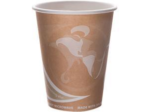 Eco-Products EPBRHC8EWPK Evolution World 24% PCF Hot Drink Cups, 8 oz., Peach, 50/Pack