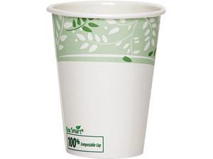 Dixie 2342PLA EcoSmart Hot Cups, PLA Lined Paper, Viridian, 12 oz., 1000/Carton
