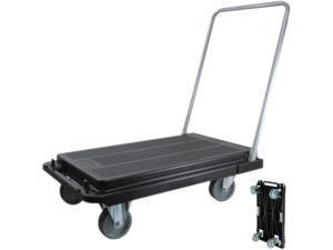 "Deflect-o CRT530004 Heavy-Duty Platform Cart, 300-lb Capacity, 33""d x 21""w x 37""h, Black"