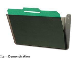 Deflect-o 73202 DocuPocket Stackable Wall Pocket, Plastic, Letter, 13 x 4 x 7, Smoke