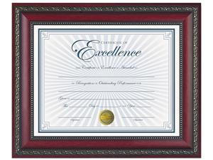 DAX N3245N3T World Class Document Frame w/Certificate, Rosewood, 8 1/2 x 11""