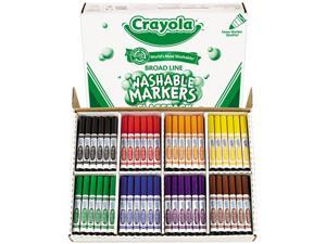 Crayola 58-8200 Washable Classpack Markers, Broad Point, Assorted, 200/Pack