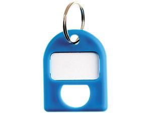 CARL Replacement Key Tags, 3/4 x 1, Blue, 8/Pack