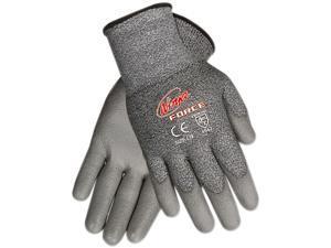 Memphis N9677L Ninja Force Polyurethane Coated Gloves, Large, Gray