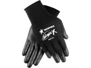 Memphis N9674XL Ninja X Bi-Polymer Coated Gloves, Extra Large, Black