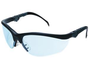 Crews KD313 Klondike Plus Safety Glasses, Black Frame, Light Blue Lens