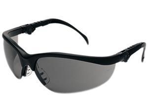 Crews KD312 Klondike Plus Safety Glasses, Black Frame, Gray Lens