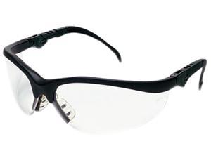 Crews KD310 Klondike Plus Safety Glasses, Black Frame, Clear Lens