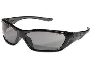 Crews FF122 ForceFlex Safety Glasses, Black Frame, Gray Lens