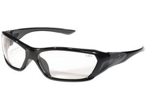 Crews FF120 ForceFlex Safety Glasses, Black Frame, Clear Lens