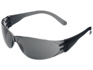 Crews CL112 Checklite Scratch-Resistant Safety Glasses, Gray Lens