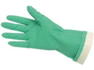 Memphis CRW5319E - Flock-Lined Nitrile Gloves, Green, 12 Pairs