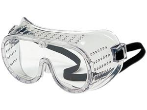 Crews 2220 Safety Goggles, Over Glasses, Clear Lens