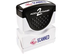 Accustamp2 035606 Accustamp2 Shutter Stamp with Microban, Red/Blue, SCANNED, 1 5/8 x 1/2