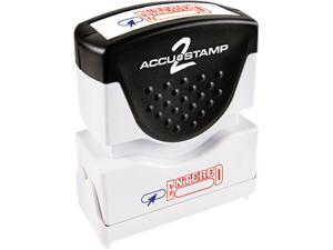 Accustamp2 035544 Accustamp2 Shutter Stamp with Microban, Red/Blue, ENTERED, 1 5/8 x 1/2