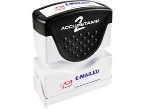 Accustamp2 035541 Accustamp2 Shutter Stamp with Microban, Red/Blue, EMAILED, 1 5/8 x 1/2