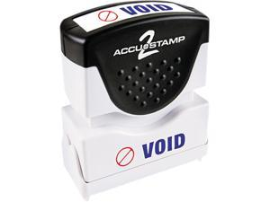 Accustamp2 035539 Accustamp2 Shutter Stamp with Microban, Red/Blue, VOID, 1 5/8 x 1/2