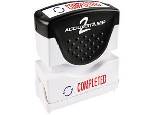 Accustamp2 035538 Accustamp2 Shutter Stamp with Microban, Red/Blue, COMPLETED, 1 5/8 x 1/2