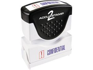 Accustamp2 035536 Accustamp2 Shutter Stamp with Microban, Red/Blue, CONFIDENTIAL, 1 5/8 x 1/2