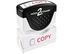 Accustamp2 035532 Accustamp2 Shutter Stamp with Microban, Red/Blue, COPY, 1 5/8 x 1/2
