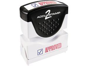 Accustamp2 035525 Accustamp2 Shutter Stamp with Microban, Red/Blue, APPROVED, 1 5/8 x 1/2